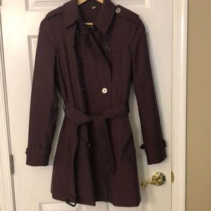 BURBERRY Brit Women's Trench Coat size 10, purple